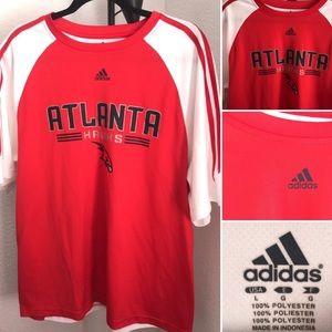 Atlanta Hawks Adidas 3-Stripe Size Large Warm-Up